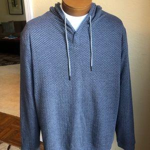 NWT Tasso Elba Hooded Sweater Gray/Blue Size 2XL